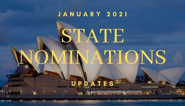 STATE NOMINATIONS AUSTRALIA - LATEST UPDATES